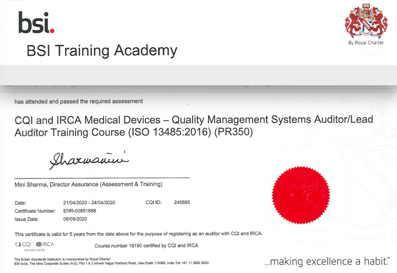 ISO 13485:2016-Quality Management System