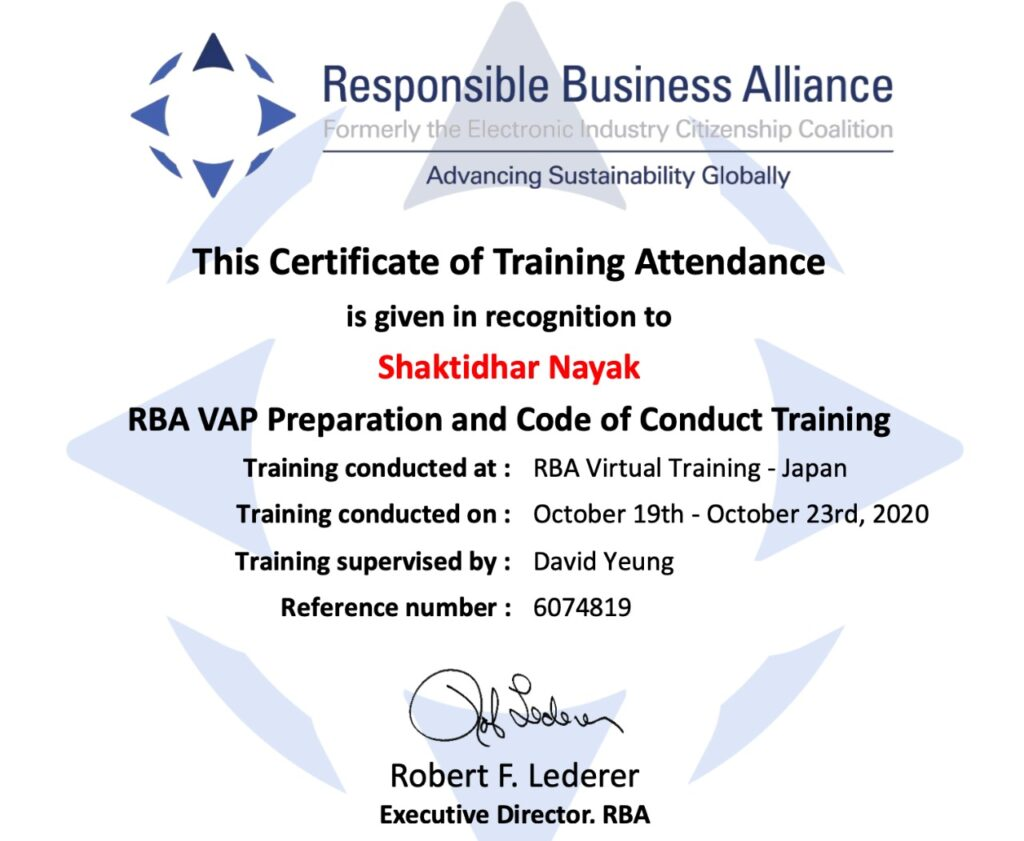 RBA Version 6 Consultancy, audit
