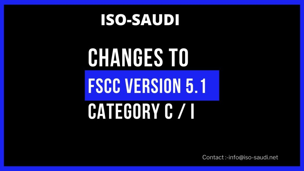 CHANGES TO FSCC VERSION 5.1 Category C / I